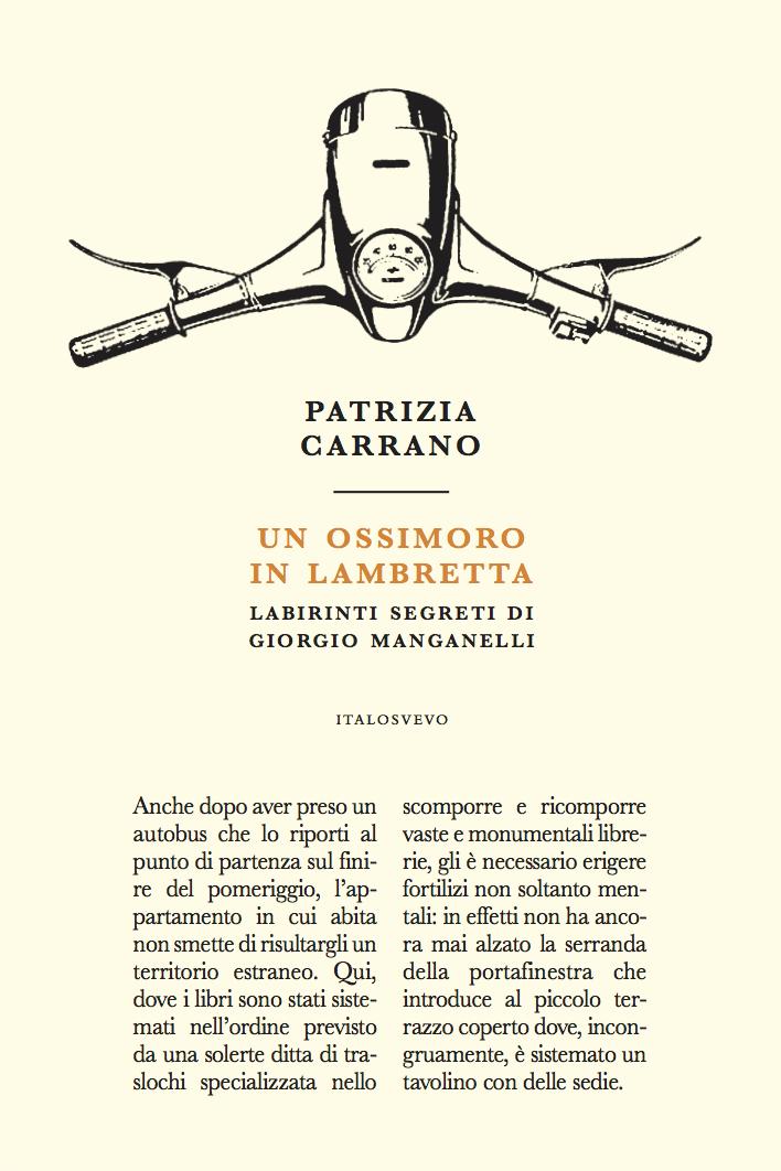 Italo Svevo Edizioni - Un ossimoro in Lambretta - Carrano