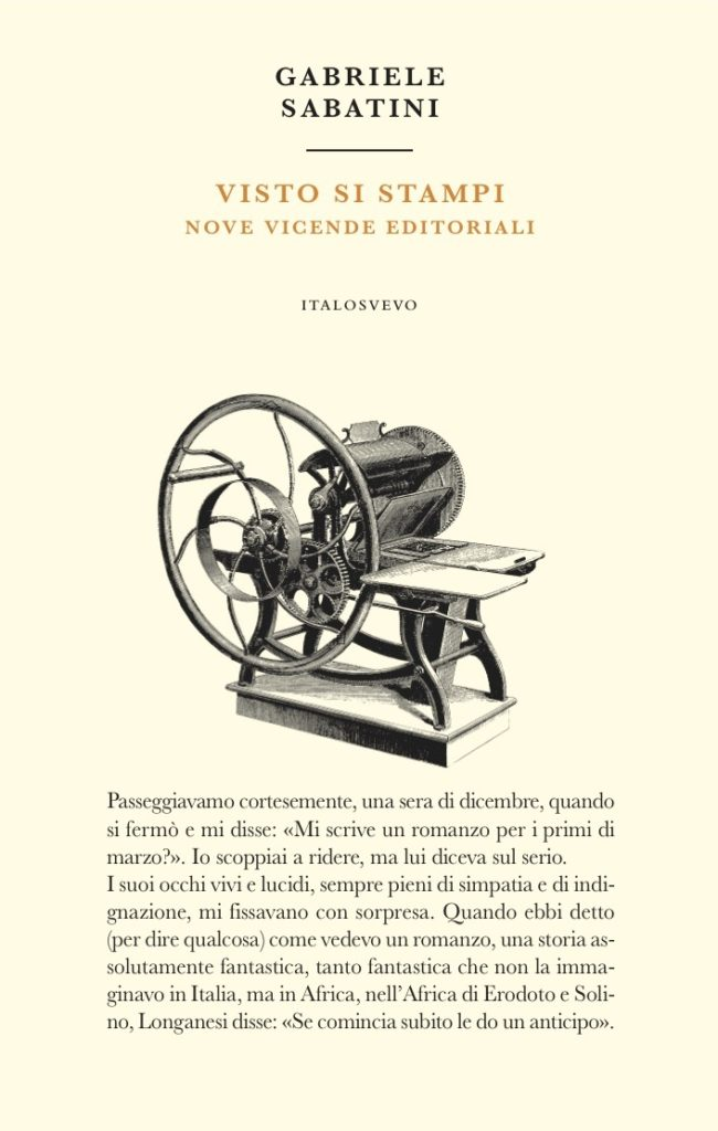 Italo Svevo Edizioni - Visto si stampi - Sabatini